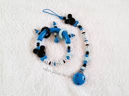 perle en bois pour attache tetine attache tetine perles bois modèle mickey garçon https www