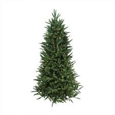 6 5 pre lit noble fir artificial tree clear