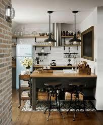 etageres cuisine décoration d un loft mansardé avec un style vintage kitchens