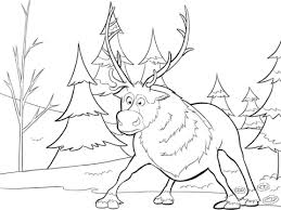 sven frozen coloring free printable coloring pages