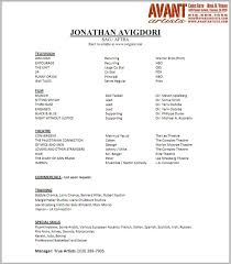 Theatre Resume Template Fresh Acting Resume Format Facetous Actor Resume 8 Acting