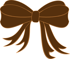 brown ribbon brown bow ribbon clip at clker vector clip online
