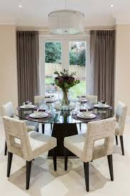 Dining Room Table Decorating Ideas Create Modern Dining Room With Glass Dining Table