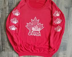 canada sweater canadian sweater etsy