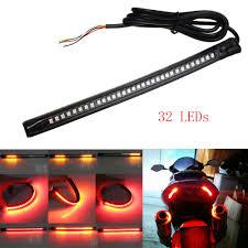 universal flexible 32led motorcycle light strip tail brake stop