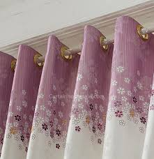Purple Bedroom Curtains Friendly Purple And White Linen Cotton Bedroom Curtains