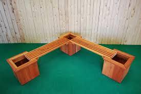 L Bench Pl Box L Shape Planter And Bench U2014 The Redwood Store