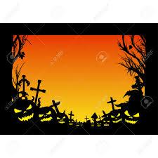 blank halloween background halloween cemetery trees