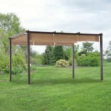 Replacement Pergola Canopy by Hampton Bay Steel Pergola With Canopy Pergola Gazebo Ideas