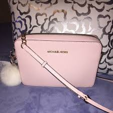 designer taschen outlet michael kors large michael kors cross light pink purse brand new with out