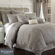 charcoal bedding montaigne acanthus damask comforter bedding by waterford linens