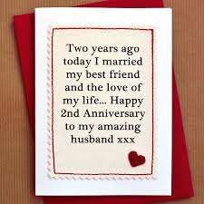 handmade second anniversary card by arnott cards gifts