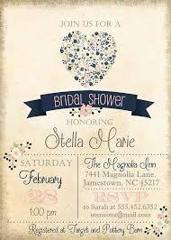 vintage bridal shower invitations navy bridal shower invitations dhavalthakur