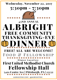 thanksgiving volunteers needed to serve community meal