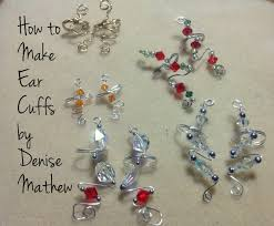 how to make wire and bead ear cuffs by denise mathew youtube