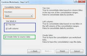 how to summarize data from worksheets workbooks into one worksheet