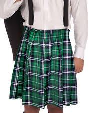 Kilt Halloween Costume Naughty Kilt Shorts Plaid St Pat Irish Skirt Costume Mens Kiss