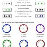 best solutions of telling time in spanish worksheets for proposal