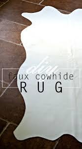 Faux Cowhide Rugs Home Coming Diy Faux Cowhide Rug
