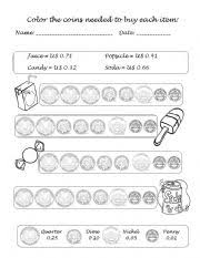 worksheet money counting coins