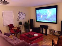 decorations astonishing small media room design grey painted with