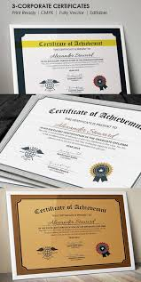 14 best certificate of achievement template psd eps ai images on
