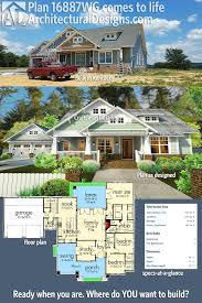 3 Bedroom House Design Plan 16887wg 3 Bedroom House Plan With Swing Porch
