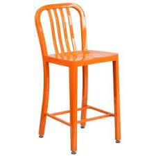 zuo uppsala 24 in tangerine cushioned bar stool set of 2 300337