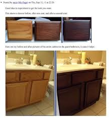 Refinish Vanity Cabinet Restain Bathroom Cabinets Simply Home Design And Interior