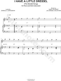 musical dreidel s e goldfarb i a dreidel piano accompaniment sheet