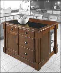 kitchen brown wood portable island for kitchen granite top in