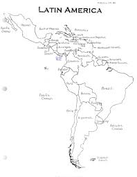 Middle America Map Quiz by Us Geography Enchantedlearningcom Central America Map Worksheets