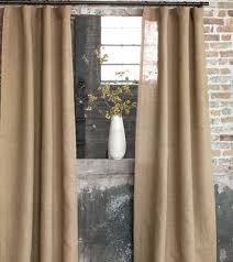 Brown Burlap Curtains Burlap Curtains In Wheat Moss And Birch J Brulee Home