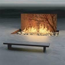 Outdoor Metal Fireplaces - steel outdoor fireplace foter