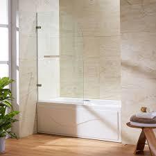 Bathroom Doors At Home Depot Vigo Orion 34 In X 58 In Frameless Curved Pivot Tub Shower Door