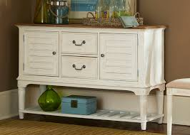 Dining Room Server by Leg Server With Solids Rubberwood Weathered Sand U0026 White Two Tone
