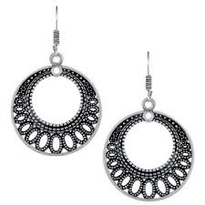 artificial earrings online buy spargz ethnic silver oxidised plated artificial jewellery