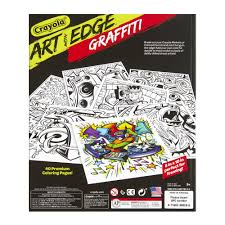 crayola art with edge graffiti art 40 premium coloring books