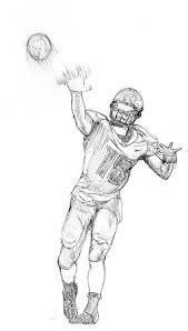 college football drawings