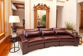 Curved Sofa Leather 25 Contemporary Curved And Sectional Sofas