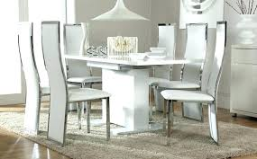 Glass Extendable Dining Table And 6 Chairs Extendable Dining Table 6 Chairs Extended Dining Table And 6