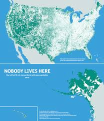 Empty United States Map by These Are All The Places In The United States Where Nobody Lives