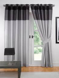 Thick Black Curtains Curtain Black Curtains For Bedroom Grey Patterned Blackout