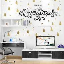 diy mural merry christmas gold christmas tree removable wall diy mural merry christmas gold christmas tree removable wall sticker decor