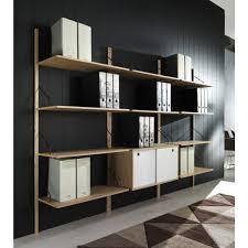 montante scaffale libreria a montanti da muro moderna con 2 ripiani e vano