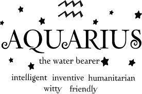 amazon com aquarius the water bearer horoscope zodiac vinyl wall