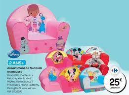 siege bebe mousse carrefour promotion assortiment de fauteuils en mousse disney