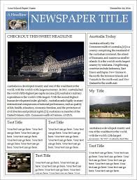 microsoft publisher newspaper template free download best
