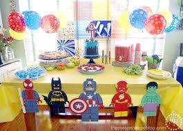 thanksgiving point birthday party lego superhero birthday party the scrap shoppe