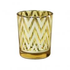 discount wedding supplies chevron votive candle holders 2 5 gold 424306 wholesale